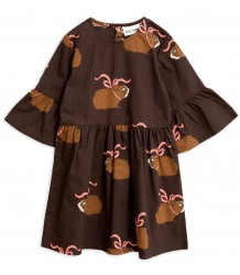Mini Rodini Posh GUINEA PIG Dress - LIMITED EDITION Mini Rodini Posh GUINEA PIG Dress - LIMITED EDITION brown