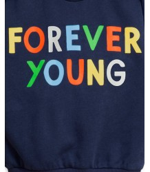 Mini Rodini FOREVER YOUNG Sweatshirt Mini Rodini FOREVER YOUNG Sweatshirt navy