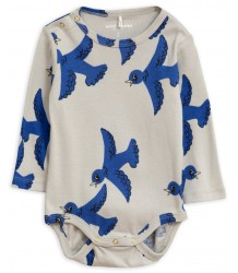 Mini Rodini FLYING BIRDS LS Body Mini Rodini FLYING BIRDS LS Body grey