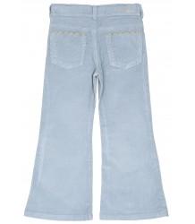 Emile et Ida Flare Pantalon Rib Emile et Ida Flaire Pantalon Rib ciel blue