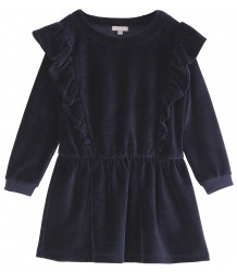 Emile et Ida Velours Ruffle Dress Emile et Ida Velours Ruffle Dress