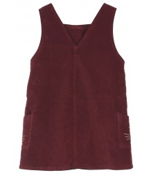 Emile et Ida Velvet Pinafore Dress Emile et Ida Velvet Pinafore Dress wine red