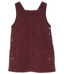 Emile et Ida Velvet Pinafore Dress Emile et Ida Velvet Pinafore Dress vin