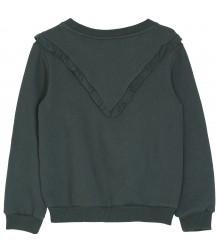 Sweatshirt V-RUFFLE Emile et Ida Sweatshirt RUFFLES green