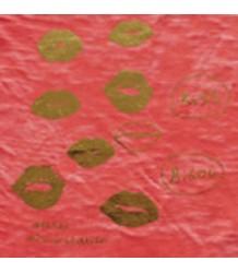 Atsuyo et Akiko Tee Burnout Atsuyo et Akiko, Tee Burnout, kisses, tomato red