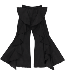Ribbed Pants Ruffle Caroline Bosmans Ribbed Pants Ruffle black
