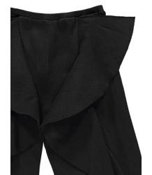 Caroline Bosmans Ribbed Pants Ruffle Caroline Bosmans Ribbed Pants Ruffle black