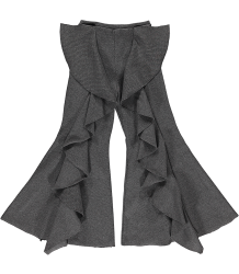 Ribbed Pants Ruffle Caroline Bosmans Ribbed Pants Ruffle grey