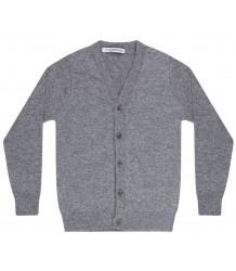 Mingo Fijn Gebreid Vest Grijs Melange Mingo Fine Knitted Cardigan grey