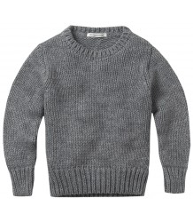 Mingo Gebreide Sweater Grijs Melange Mingo Knitted Sweater grey