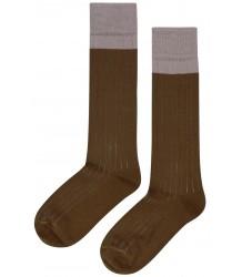Mingo Knee Socks Rib 2-tone Mingo Knee Socks Rib 2-tone