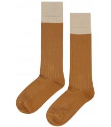 Mingo Knee Socks Rib 2-tone Mingo Knee Socks Rib 2-tone sudan sand