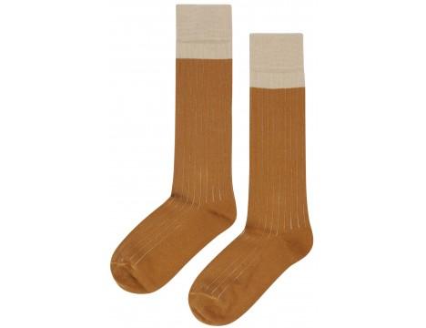 Mingo Knee Socks Rib 2-tone