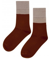 Mingo Mingo Socks Rib 2-tone Mingo Mingo Socks Rib 2-tone choco taupe
