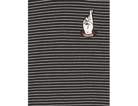 Finger in the Nose Teeroko STRIPE T-shirt with Smock
