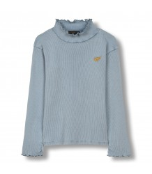 Spice Knitted LS High Collar T-shirt Finger in the Nose Spice Knitted LS High Collar T-shirt stone blue