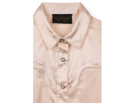 Finger in the Nose Meryl Oversized Long Sleeve Satin Shirt