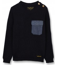 Finger in the Nose Rudy Heavy Knitted Jumper POCKET Finger in the Nose Rudy Heavy Knitted Jumper POCKET navy