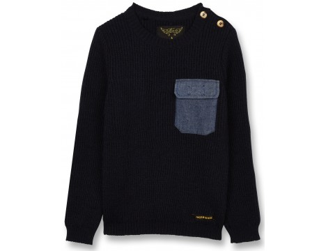 Finger in the Nose Rudy Heavy Knitted Jumper POCKET