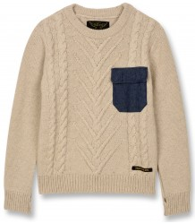 Finger in the Nose Avery Knitted CABLE Jumper Finger in the Nose Avery Knitted CABLE Jumper beige