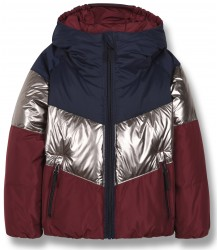 Snowdance Reversible Down Jacket Finger in the Nose Snowdance Reversible Down Jacket colourblock burgundy