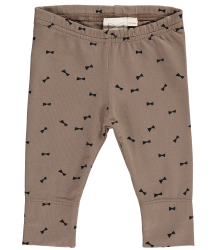 Mini Sibling Baby Slim Pants BOW Mini Sibling Baby Slim Pants BOW mocca