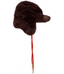 Mini Rodini Faux Fur Cap - LIMITED EDITION Mini Rodini Faux Fur Cap brown
