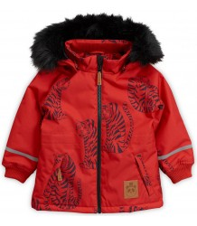 Mini Rodini K2 TIGER Parka - LIMITED EDITION Mini Rodini K2 TIGER Parka - LIMITED EDITION red