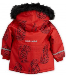 Mini Rodini K2 TIGER Parka - LIMITED EDITION Mini Rodini K2 TIGER Parka red