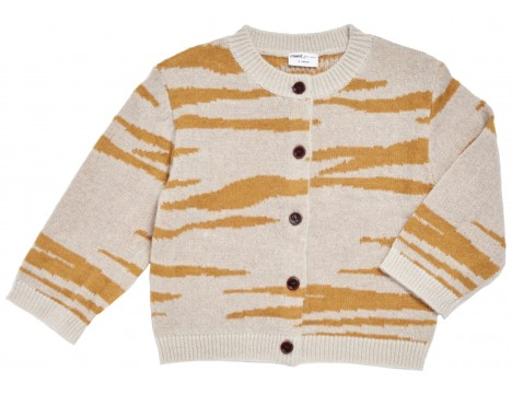 Maed for Mini Tipsy TIGER Knit Cardigan