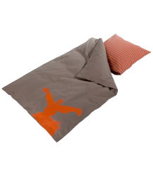 Bed Linen Best Behavior, Bed Linen, Mocca, w/ Orange Monster