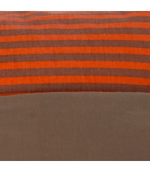 Bed Linen Best Behavior, Bed Linen, Mocca / coral stripe
