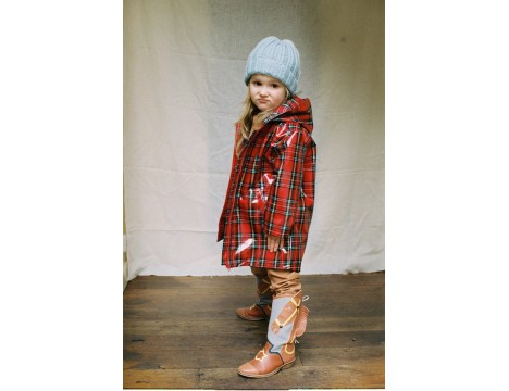 Maed for Mini Tartan Termite Rain Coat
