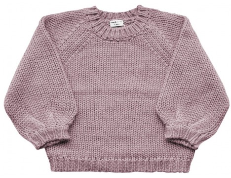Maed for Mini Purple Parrot Knit Sweater