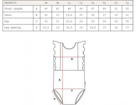 Maed for Mini Bordeaux Badger Swim Suit