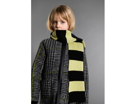 Little Man Happy BIG STRIPE Knitted Scarf