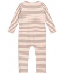 LS Playsuit STRIPED Gray Label LS Playsuit STRIPED rustic clay cream