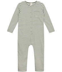 LS Playsuit STRIPED Gray Label LS Playsuit STRIPED moss cream