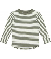 STRIPED L/S T-shirt (New Fabric) Gray Label STRIPED L/S T-shirt moss cream