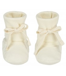 Baby Ribbed Booties Gray Label Baby Ribbed Booties cream