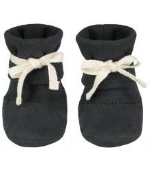Gray Label Baby Ribbed Booties Gray Label Baby Ribbed Booties nearly black