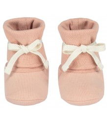 Gray Label Baby Ribbed Booties Gray Label Baby Ribbed Booties vintage pink
