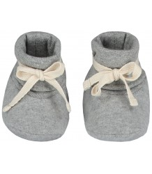 Gray Label Baby Ribbed Booties Gray Label Baby Ribbed Booties grey melange