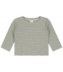 Baby L/S Tee STRIPED Gray Label Baby LS Tee STRIPED moss cream
