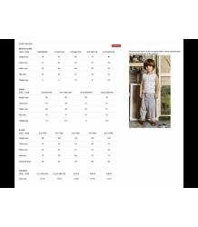 Long Ribbed Socks Gray Label size chart