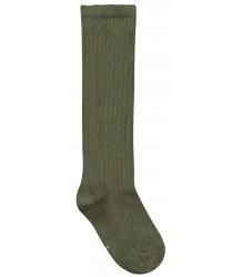 Long Ribbed Socks Gray Label Long Ribbed Socks moss