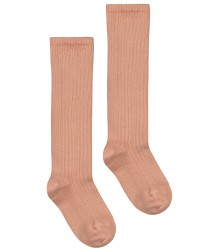 Long Ribbed Socks Gray Label Long Ribbed Socks rustic clay