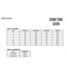 Sometime Soon London Backpack AOP Sometime Soon sizechart
