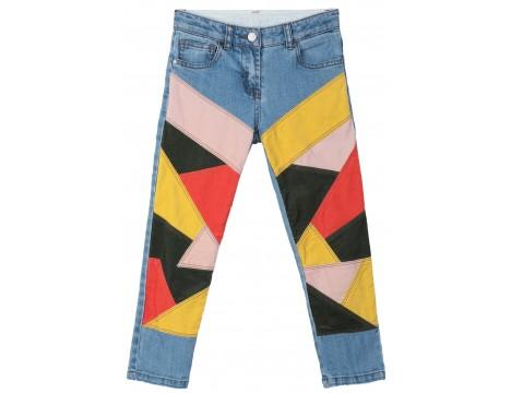Stella McCartney Kids Denim Trousers PATCHWORK