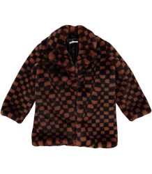BO(Y)SMANS CHECKERBOARD Fake Fur Coat BO(Y)SMANS CHECKERBOARD Fake Fur Coat